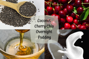 coconut cherry chia overnight pudding