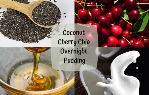 coconut cherry chia overnight pudding