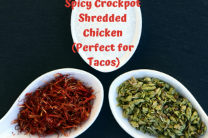 spicy crockpot shredded chicken