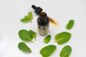 peppermint oil and leaves
