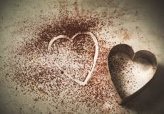 coco powder heart