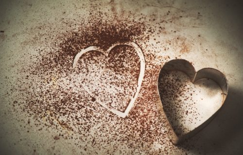 coco powder heart