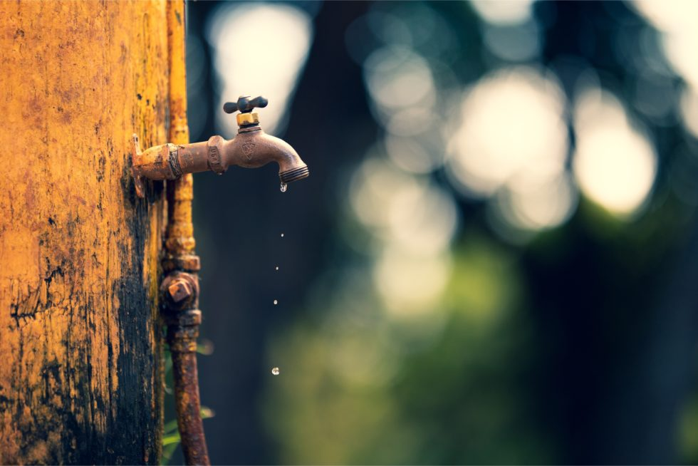 faucet leaking