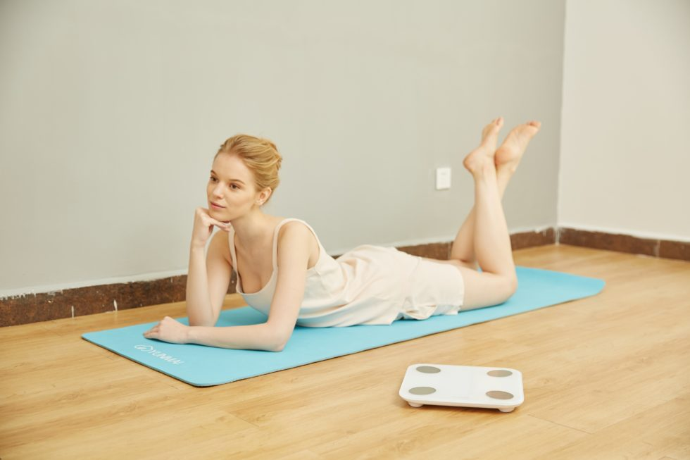 woman on a mat
